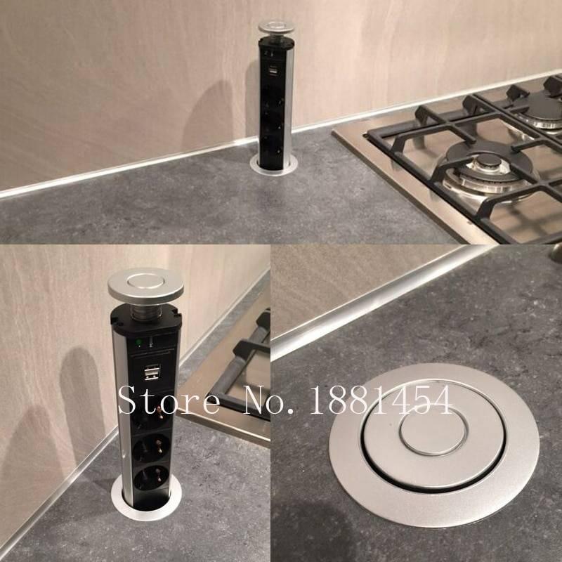 Розетки на кухню в столешницу: скрытые и встроенные модели