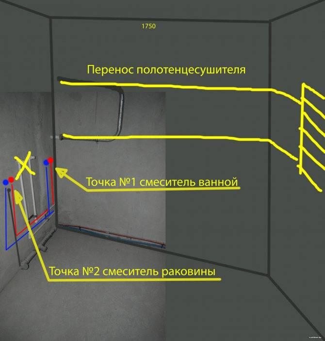 Перенос полотенцесушителя на другую стену: нужно ли согласование, видео работ
