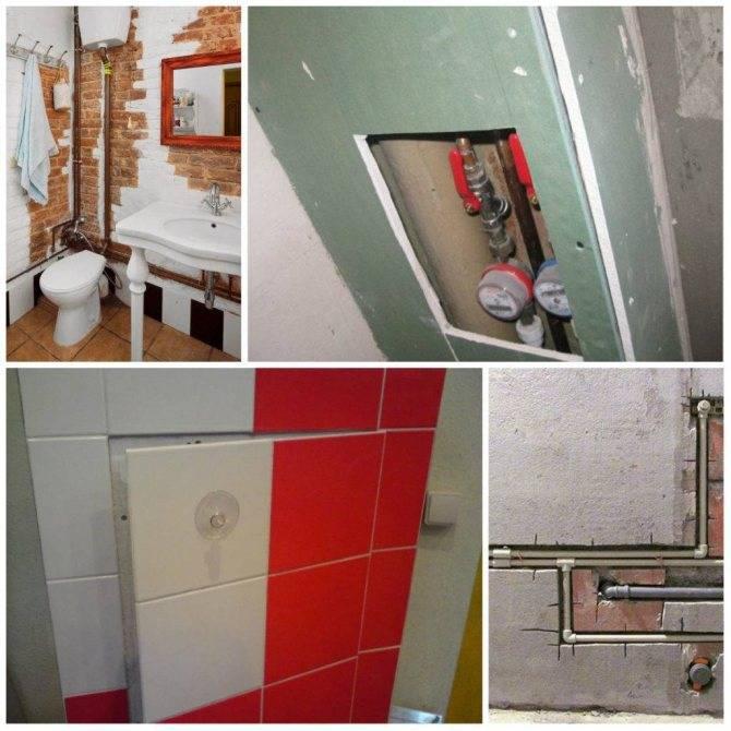 Короб в ванной для труб: дизайн и разновидности материалов
