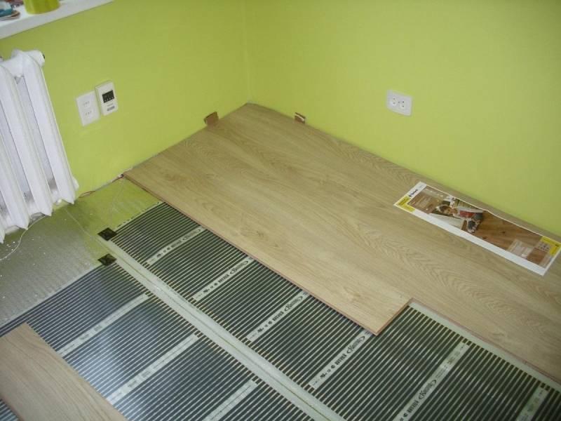 Плёночный тёплый пол под ламинат - порядок монтажа