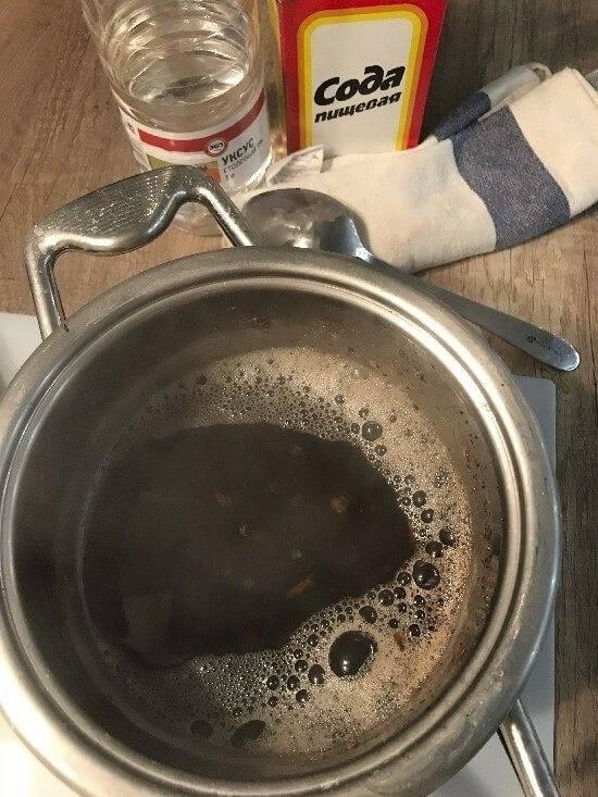 Как отчистить пригоревшее варенье в кастрюле из нержавеющей стали