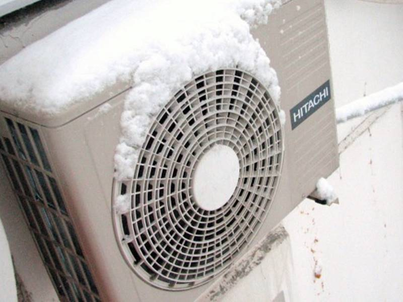 Работа кондиционера зимой