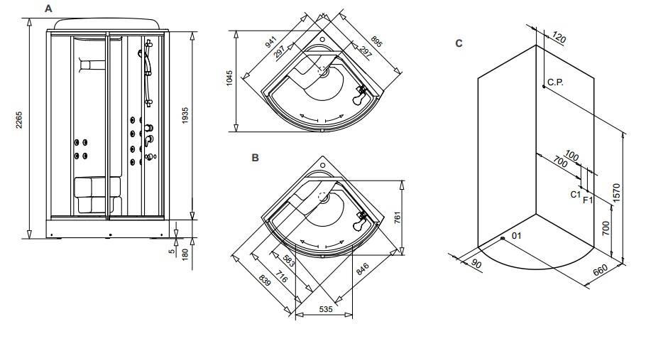 Размеры душевых кабин: обзор стандартов и основных габаритов