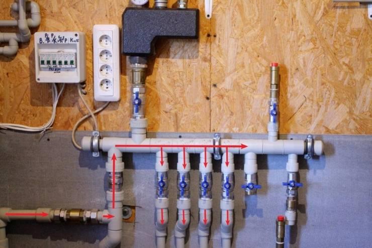 Распределительная гребенка системы отопления: назначение, принцип действия, правила подключения ???? ремонт дачи