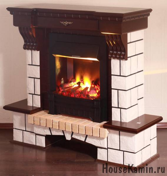 Электрический камин с эффектом пламени: 230 фото
