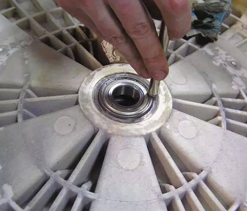 Как снять подшипник с барабана стиральной машины: технология демонтажа и замены
