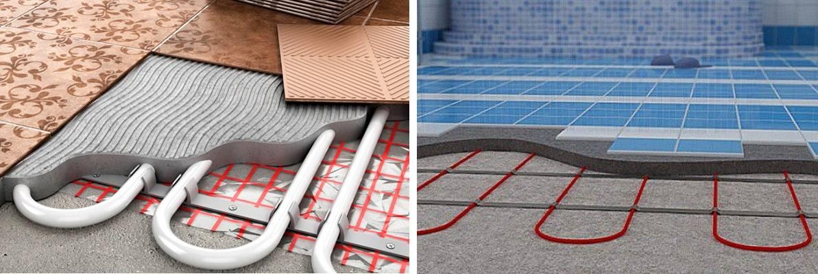 Как сделать монтаж теплого пола под плитку своими руками – пошаговое руководство по укладке электрического подогрева