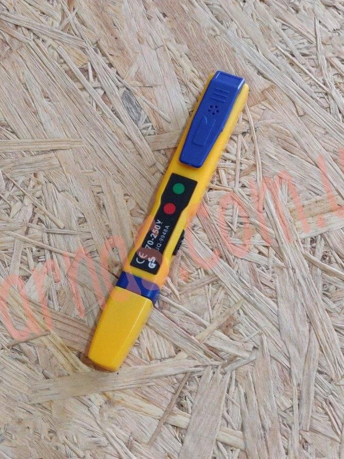Простой индикатор для определения скрытой проводки