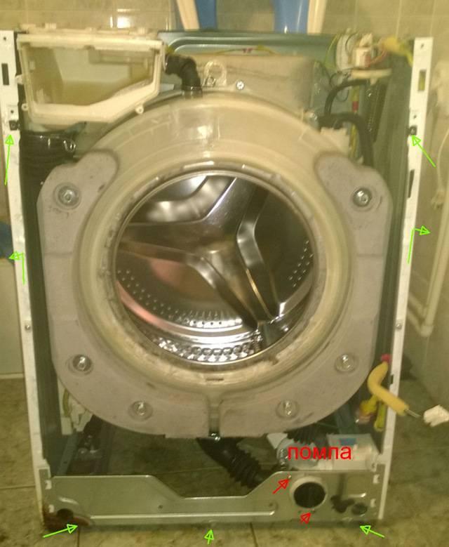 Как разобрать стиральную машину на примере моделей разных брендов