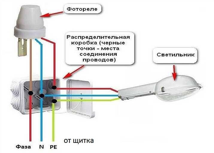 Фотореле для включения освещения (выбор, схема подключения)