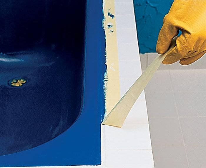 Покраска ванны своими руками: акрилом, эмалью, технология, видео