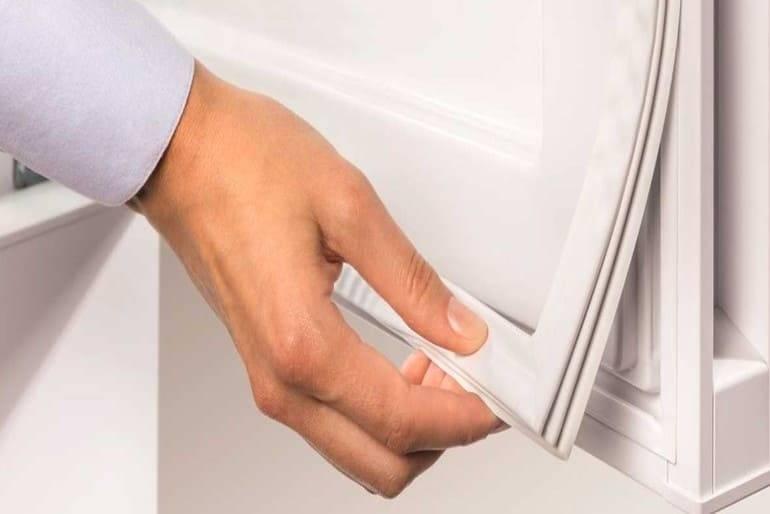 Замена уплотнительной резинки на двери в холодильнике bosch