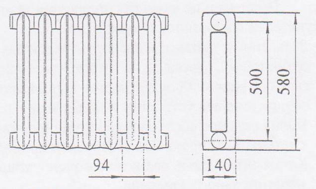 Чугунный радиатор мс 140 технические характеристики: схемы и приемы монтажа радиаторов отопления