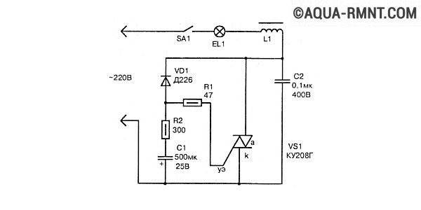 Плавное включение ламп накаливания продлит срок службы. схема плавного включения ламп. видео