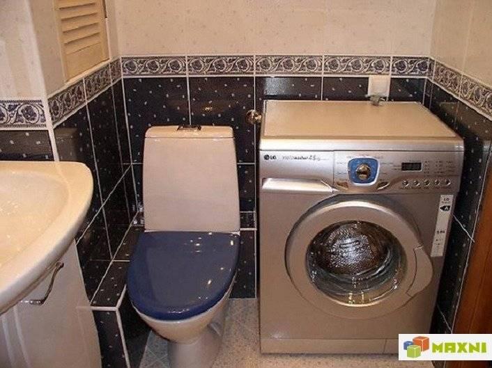 Стиральная машина в ванной: установка, подключение, дизайн, размещение, монтаж