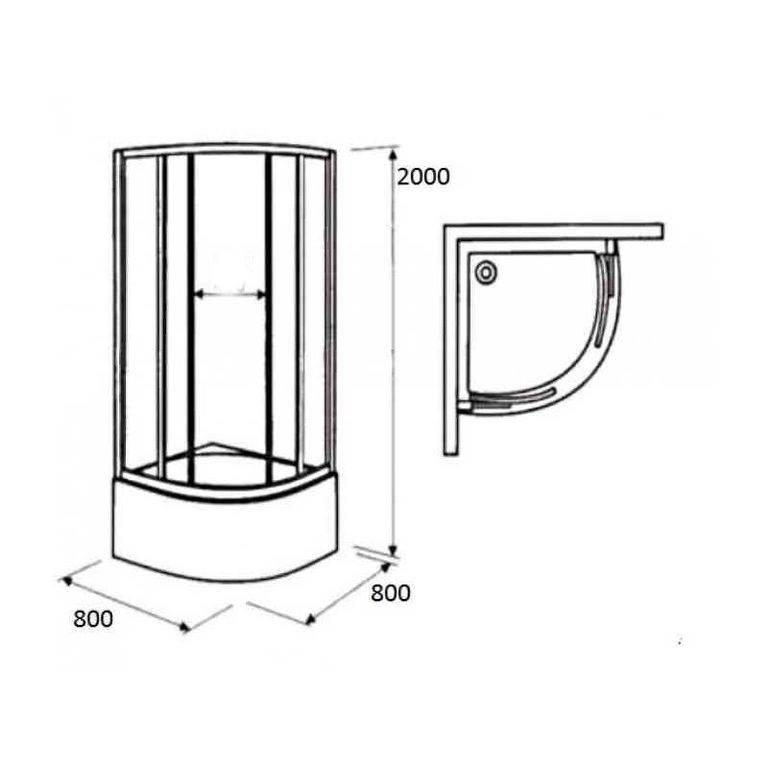 Размеры душевых кабин – типовые размеры