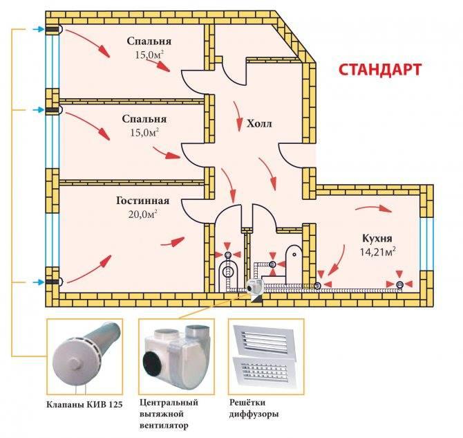Схема размещения вентиляции канализации в частном доме: внешняя и внутренняя вытяжка, часто задаваемые вопросы