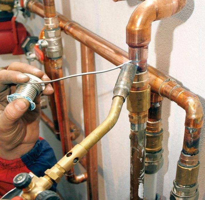 Медные трубы для водопровода - монтаж, как паять, срок службы