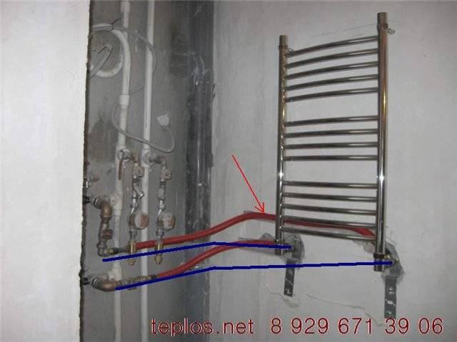 Монтаж полотенцесушителя: способы и схемы, правила установки и частые ошибки