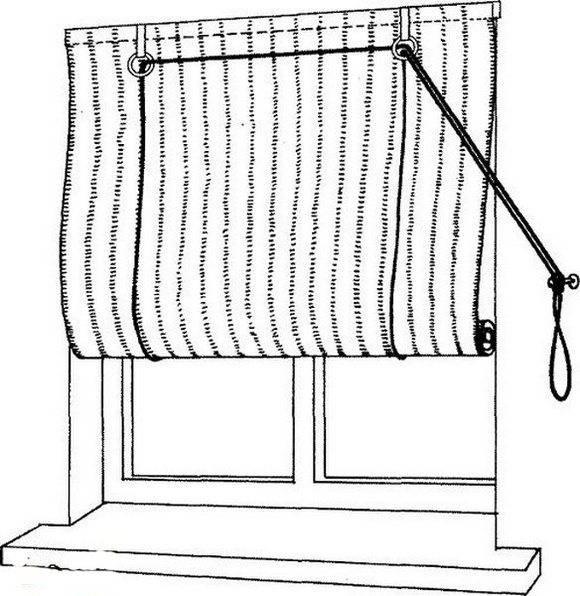 Рулонные шторы своими руками — пошив и крепление