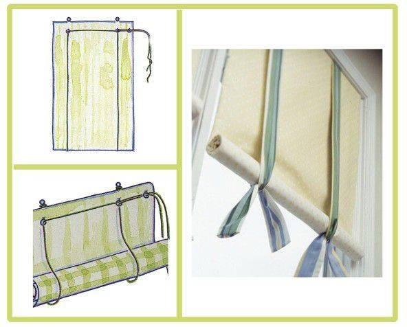 Как самостоятельно сшить рулонные шторы