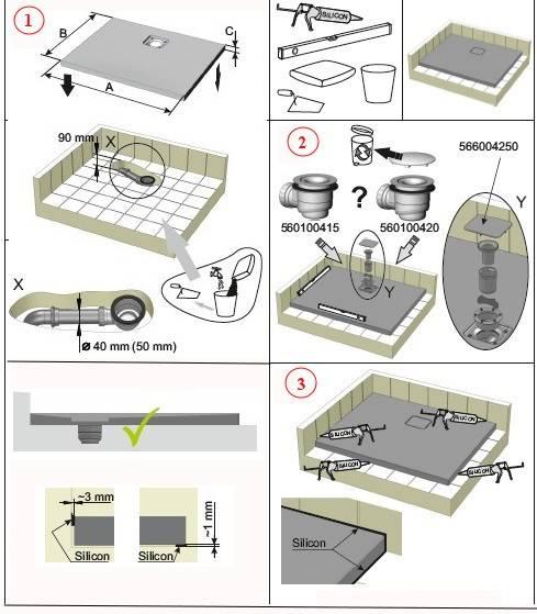 Как собрать поддон душевой кабины: особенности монтажа типовых вариантов