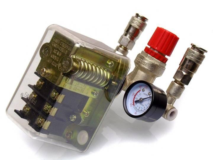 Реле давления для компрессора 220в, 380в. схема и настройка   проинструмент