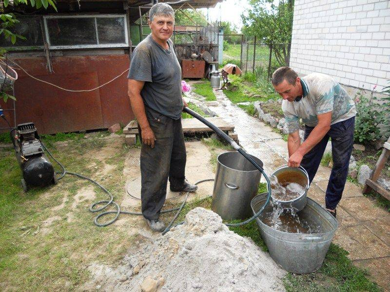 Чистка скважины своими руками как прочистить от песка, методы