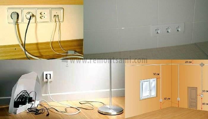Установка розеток в квартире своими руками – классификация устройств, пошаговая инструкция и видео
