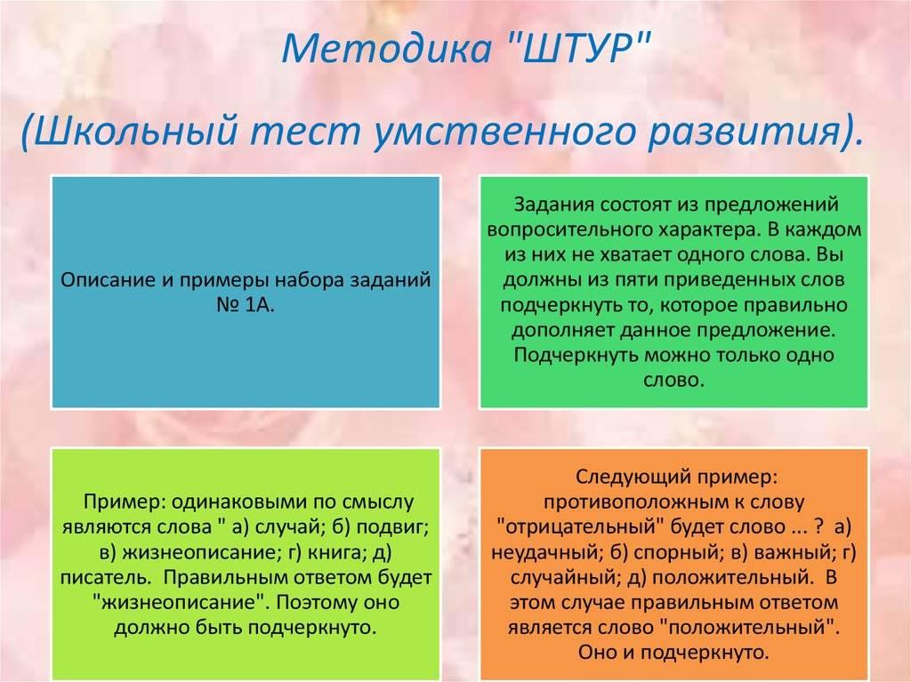 Школьный тест умственного развития — psylab.info