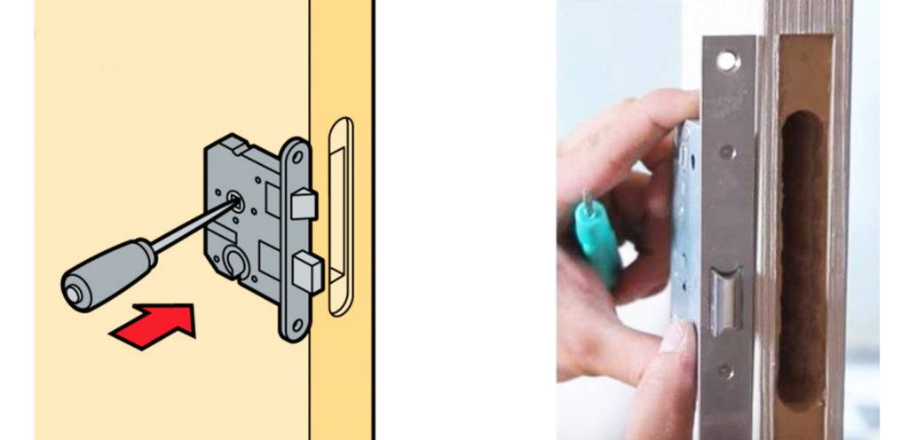 Пошаговая инструкция по врезке замка в межкомнатную дверь с фото и видео