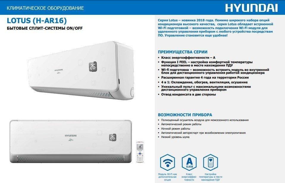 Обзор сплит-системы Hyundai H-AR21-09H: серднячок с претензией на премиум-класс