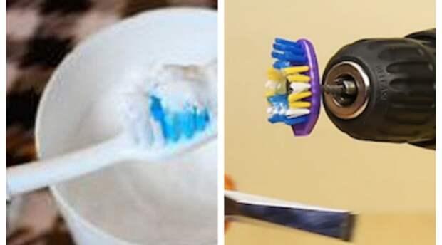 Странные и полезные идеи использования старых зубных щеток