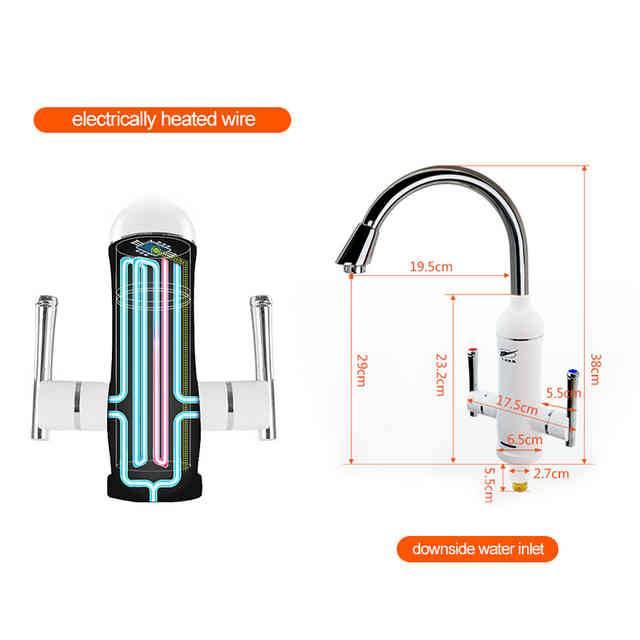 Проточный электрический водонагреватель на кран: конструктивные особенности и технические характеристики