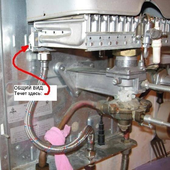 Течет вода в газовом котле: причины, способы устранения течи, профилактика