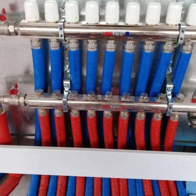 Схема подключения гребенки отопления