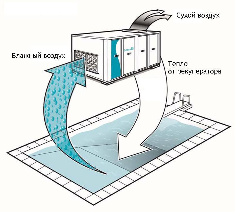 Вентиляция бассейна. онлайн расчет системы вентиляции для помещений частных и общественных бассейнов.