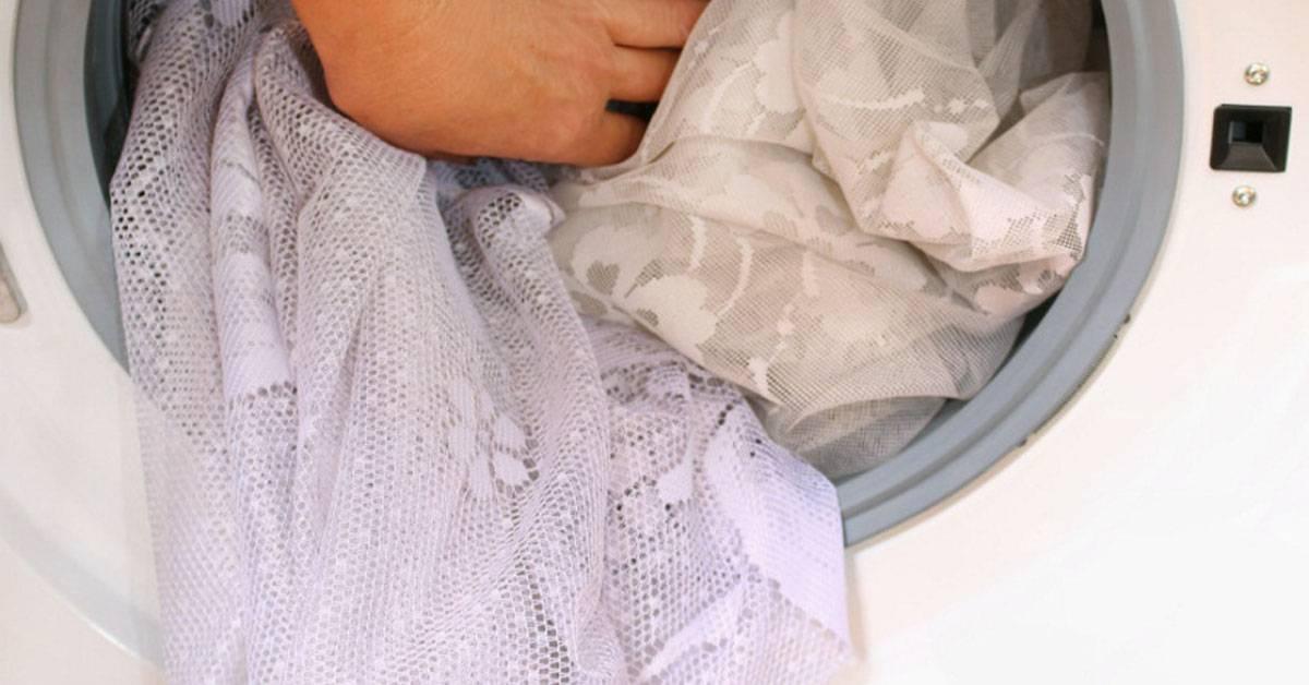 Стирка штор в стиральной машине: блэкаут, с люверсами, на каком режиме и при какой температуре
