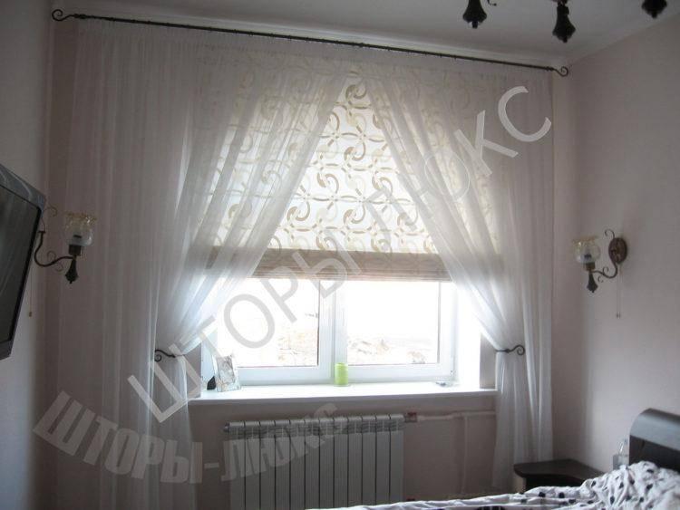 Как повесить шторы на косое окно?