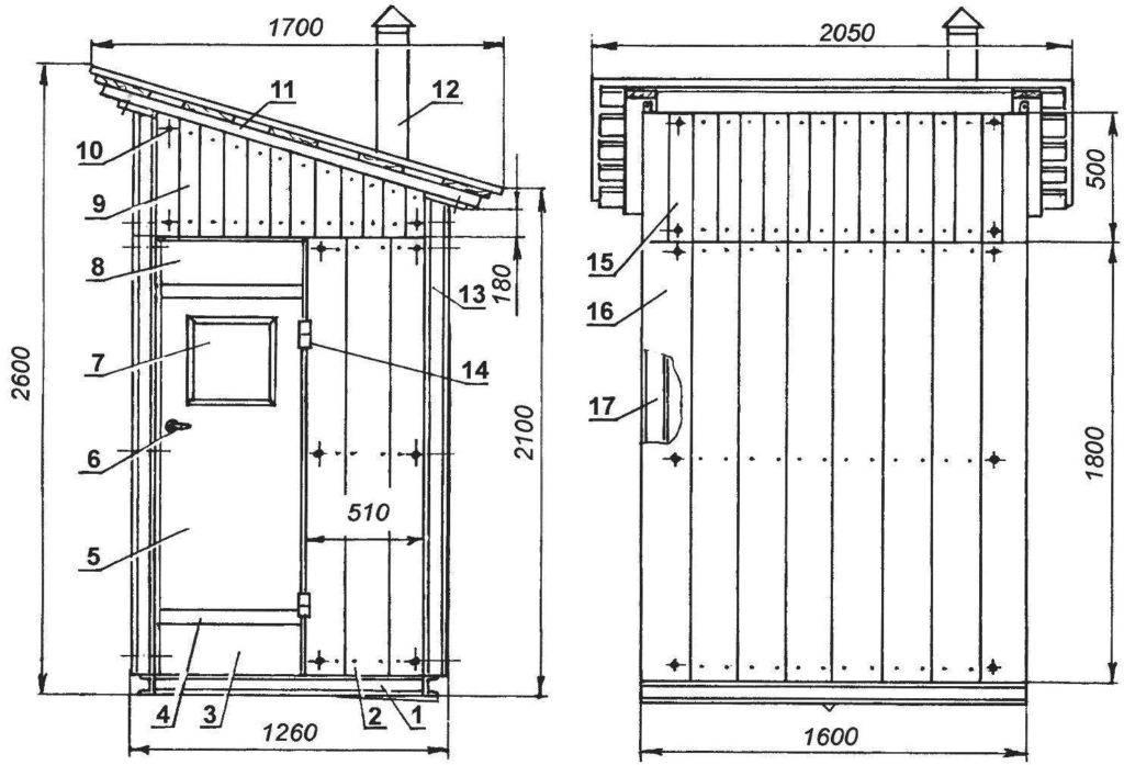 Туалет на даче — своими руками: схемы чертежи, фото и видео