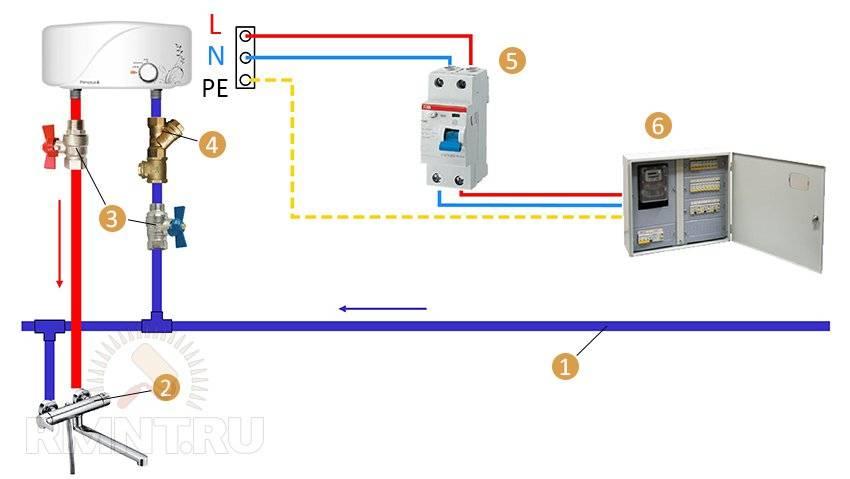 Схема подключения узо: варианты для разных сетей