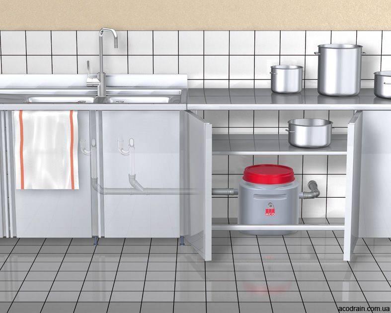 Жироуловитель под мойку: устройство, изготовление и установка своими руками
