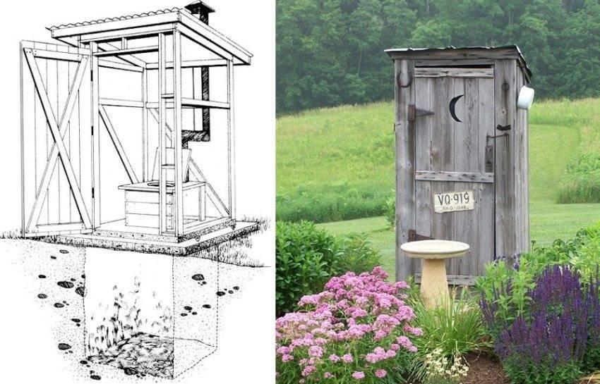 Дачный туалет: каркасные конструкции и другие, инструкция как сделать своими руками, видео и фото