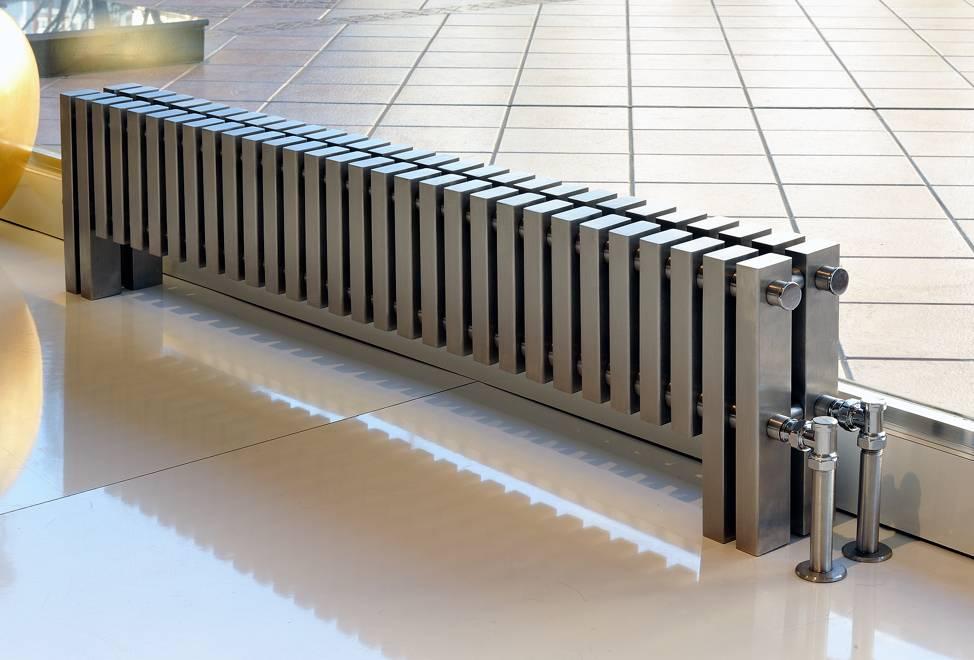 Батареи в полу— конструкция, виды, монтаж своими руками