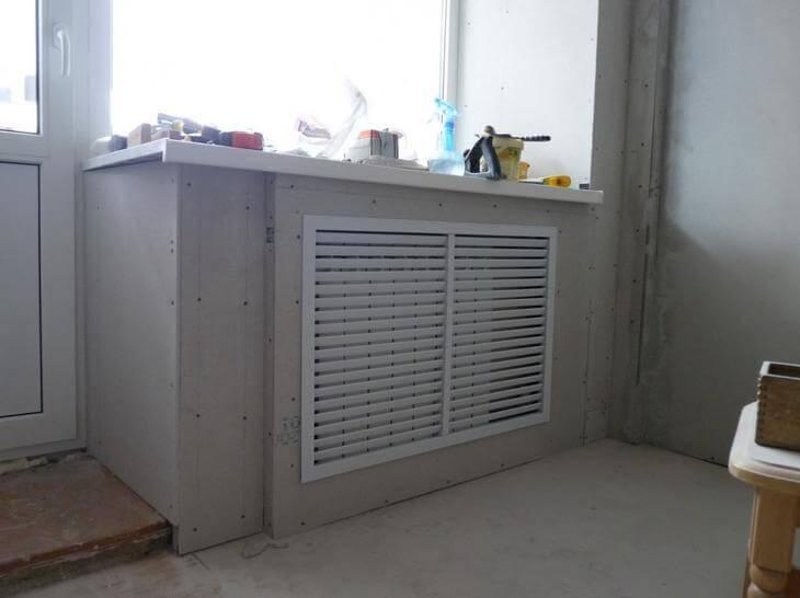 Как закрыть радиатор отопления своими руками