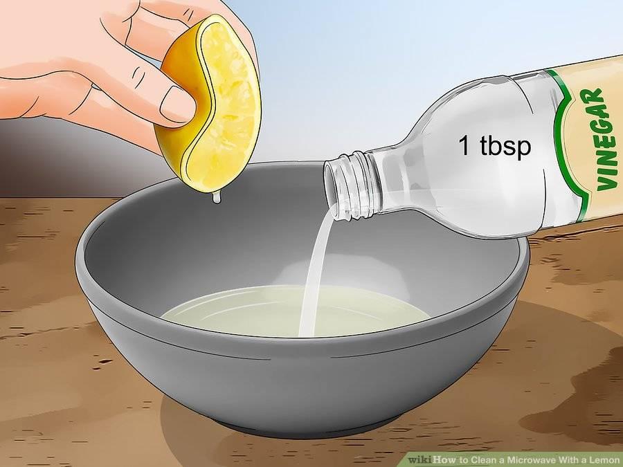 Как очистить микроволновку внутри с помощью лимона