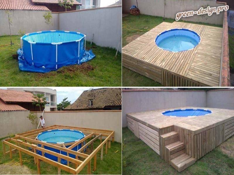 Как сделать бассейн на даче из подручных материалов своими руками - инструкция с фото и видео