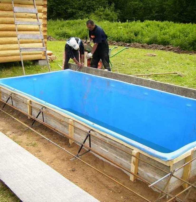 Каркас для бассейна: инструкция с фото, как сделать своими руками пластиковый, круглый, деревянный, с жесткими стенками и т.д.