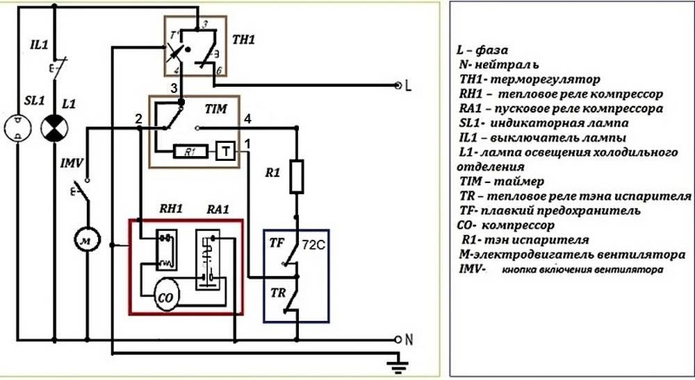 Схемы холодильников