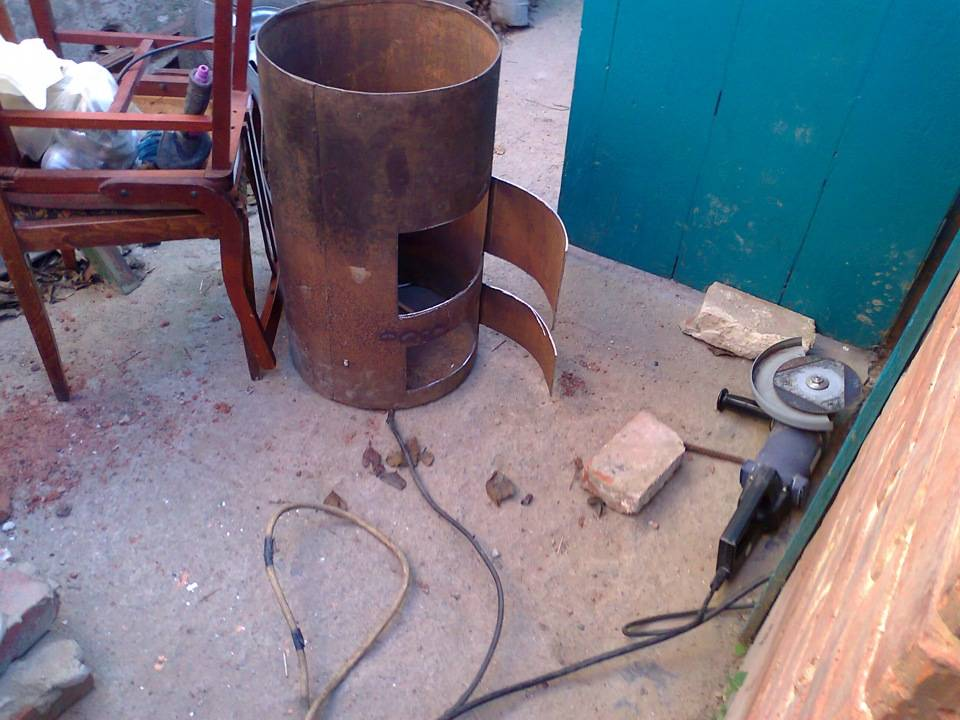 Постройка печи для гаража